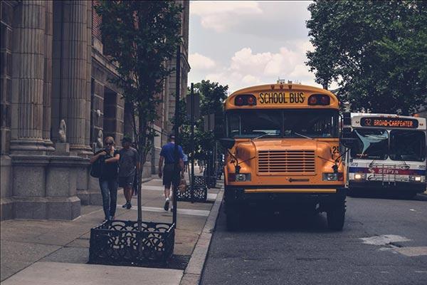 Autobús escolar en Chicago, IL